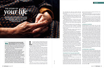 Life stories feature article writing for Health Agenda
