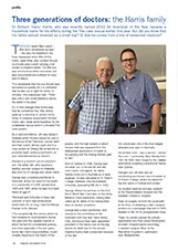 The Harris story - Feature article writing for MedicSA